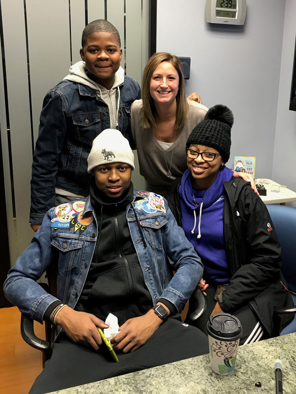 Dr. Jaclyn Riel with Zion, Nia, and Josh Spencer