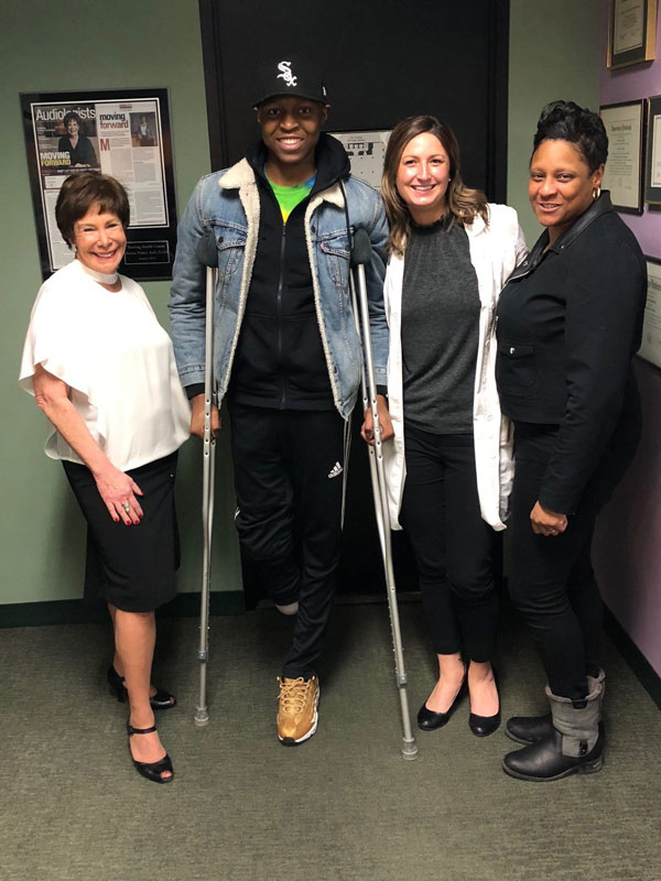 Zion and Lovetta with Dr. Ronna Fisher and Dr. Jaclyn Riel