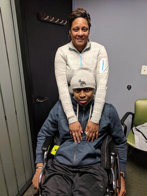 Zion with his mom, Lovetta